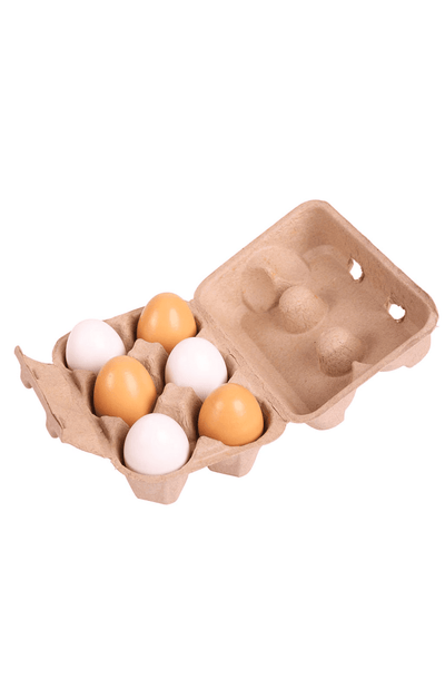 BigJigs Wooden Play Food - Eggs in a Carton