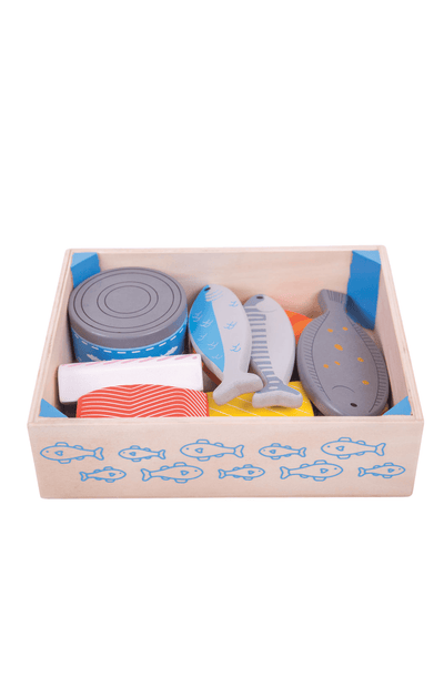BigJigs Wooden Play Food - Seafood Crate