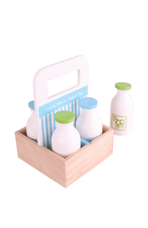 BigJigs Wooden Milkman Delivery Set