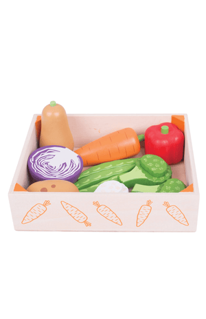 BigJigs Wooden Play Food - Vegetable Crate