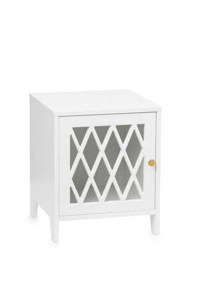 Cam Cam Copenhagen Harlequin Bedside Table - White