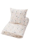 CAM CAM Cot Bed Duvet and Pillowcase - Pressed Leaves Rose