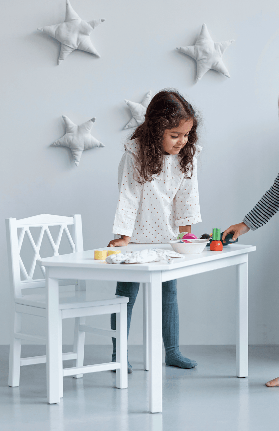 Cam Cam Copenhagen Harlequin Kids Table - White