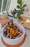 Mini Be Ball Pit - Earthy Tones In Grey Pit