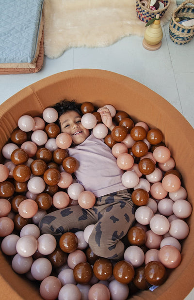Mini Be Ball Pit - Earthy Tones In Camel Pit