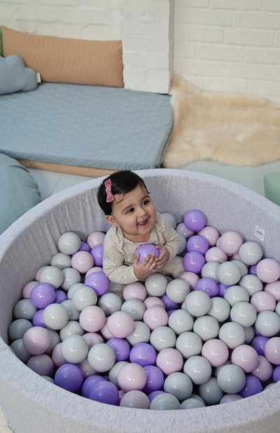 Mini Be Ball Pit - Lavender In Grey Pit