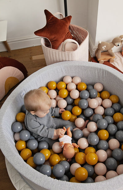 Mini Be Ball Pit - Pink/Mustard