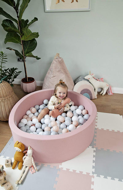 Mini Be Ball Pit - Pale Rose/Grey In Rose Pit