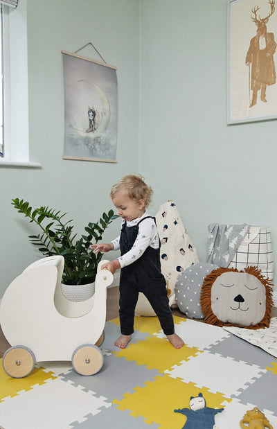Sebra Baby Walker/Toy Pram - White