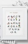 Jo Laing 'My First Alphabet' Nursery Art Print