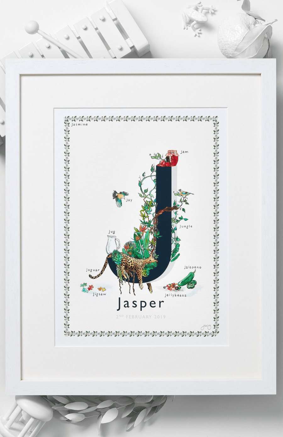 Jo Laing Alphabet Nursery Art Print 'J is For'