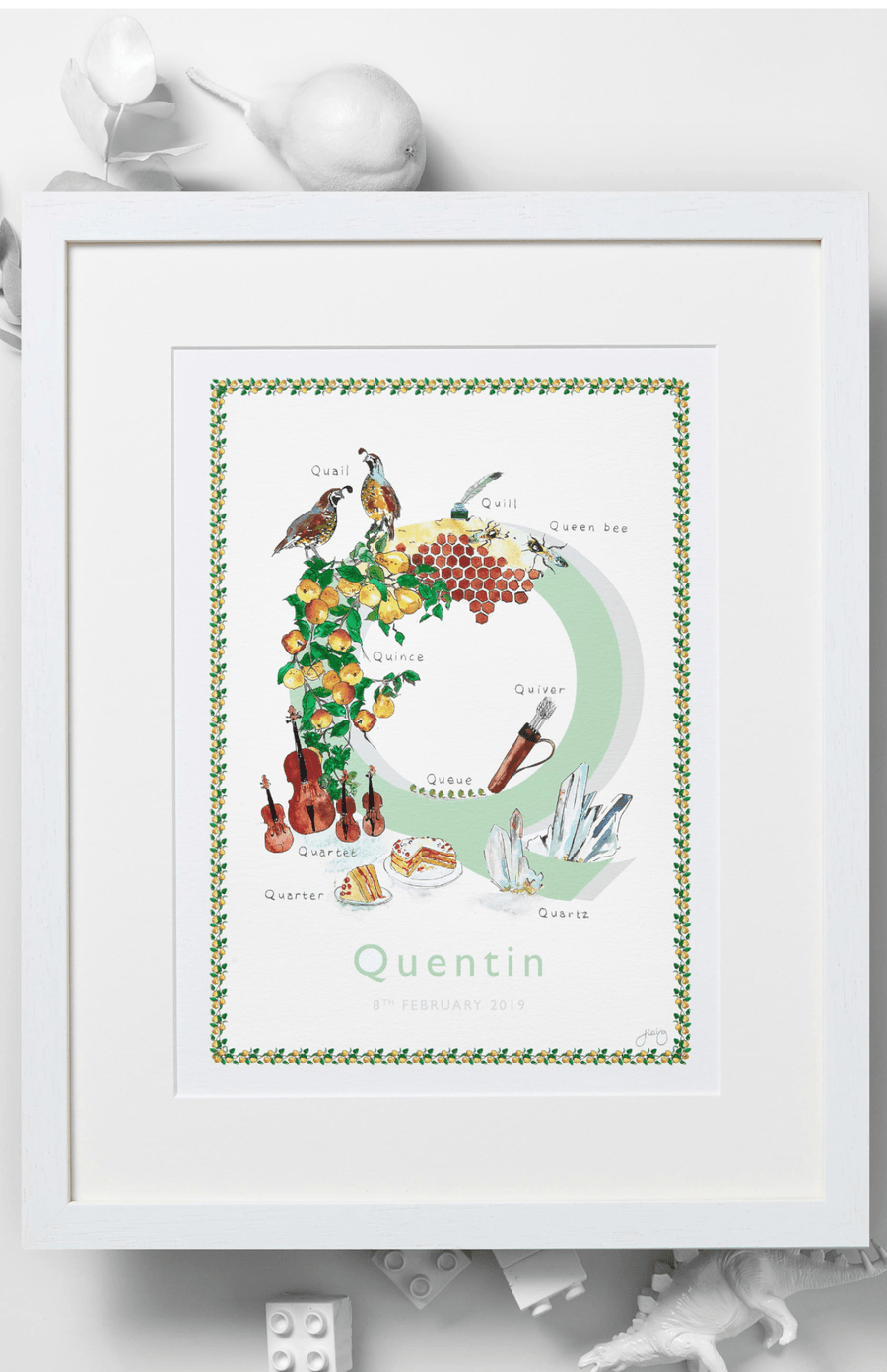 Jo Laing Alphabet Nursery Art Print 'Q is For'