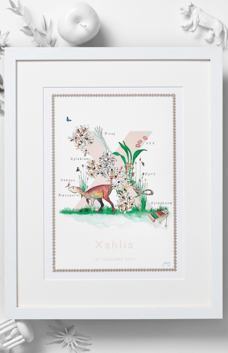 Jo Laing Alphabet Nursery Art Print 'X is For'