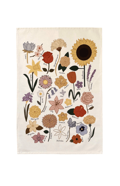 Kid Of The Village Flower Chart Wall Hanging