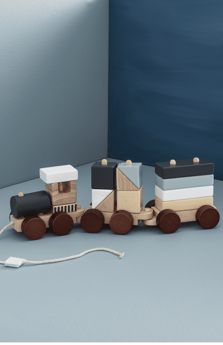 Kids Concept Block Train - Natural
