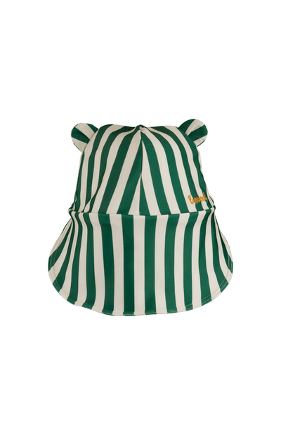Liewood Senia Waterproof Sun Hat -  Stripe Garden Green/Sandy