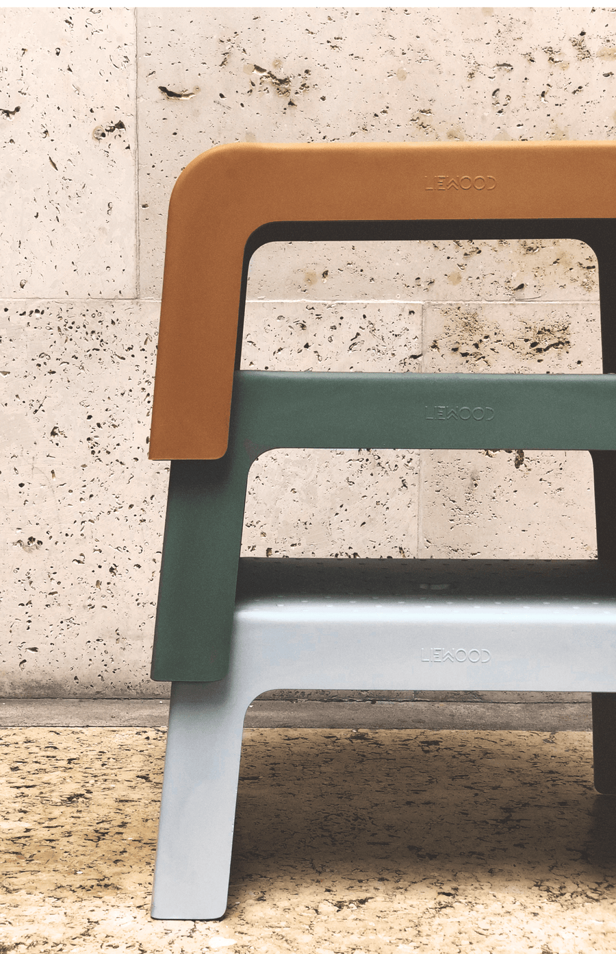 Liewood Ulla Step Stool - Dumbo Grey