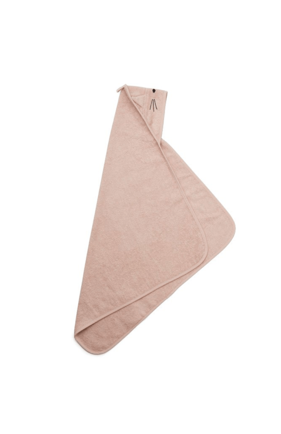 Liewood Large Hooded Towel - Cat Rose