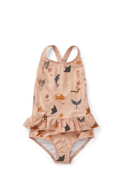 Liewood Amara Swimsuit - Sea Creature Rose Mix