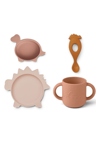 Liewood Vivi Baby Silicone Dinner Set 4 pack - Dino