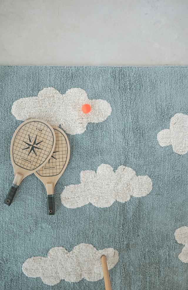 Lorena Canals Clouds Washable Rug - Vintage Blue