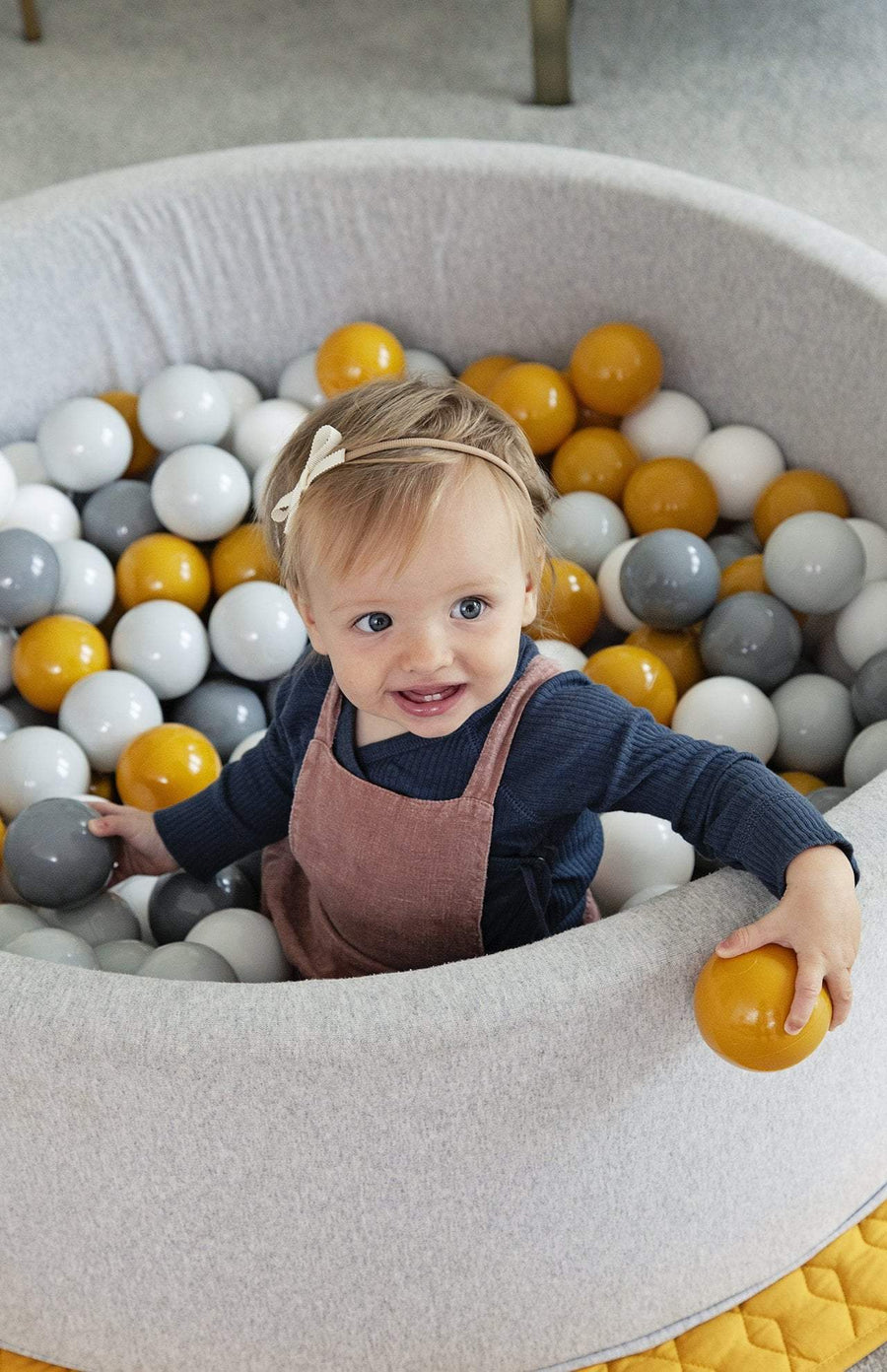 Mini Be Ball Pit - Mustard/Grey