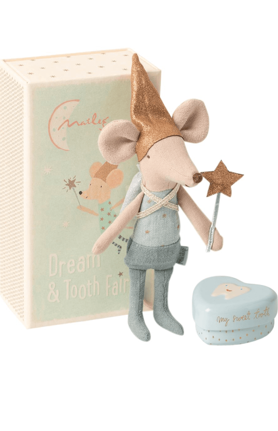 Maileg Tooth Fairy Mouse In Matchbox - Big Brother