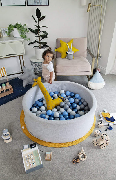 Mini Be Ball Pit - Night Blue In Grey Pit