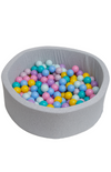 Mini Be Ball Pit - Pastel Rainbow In Grey Pit
