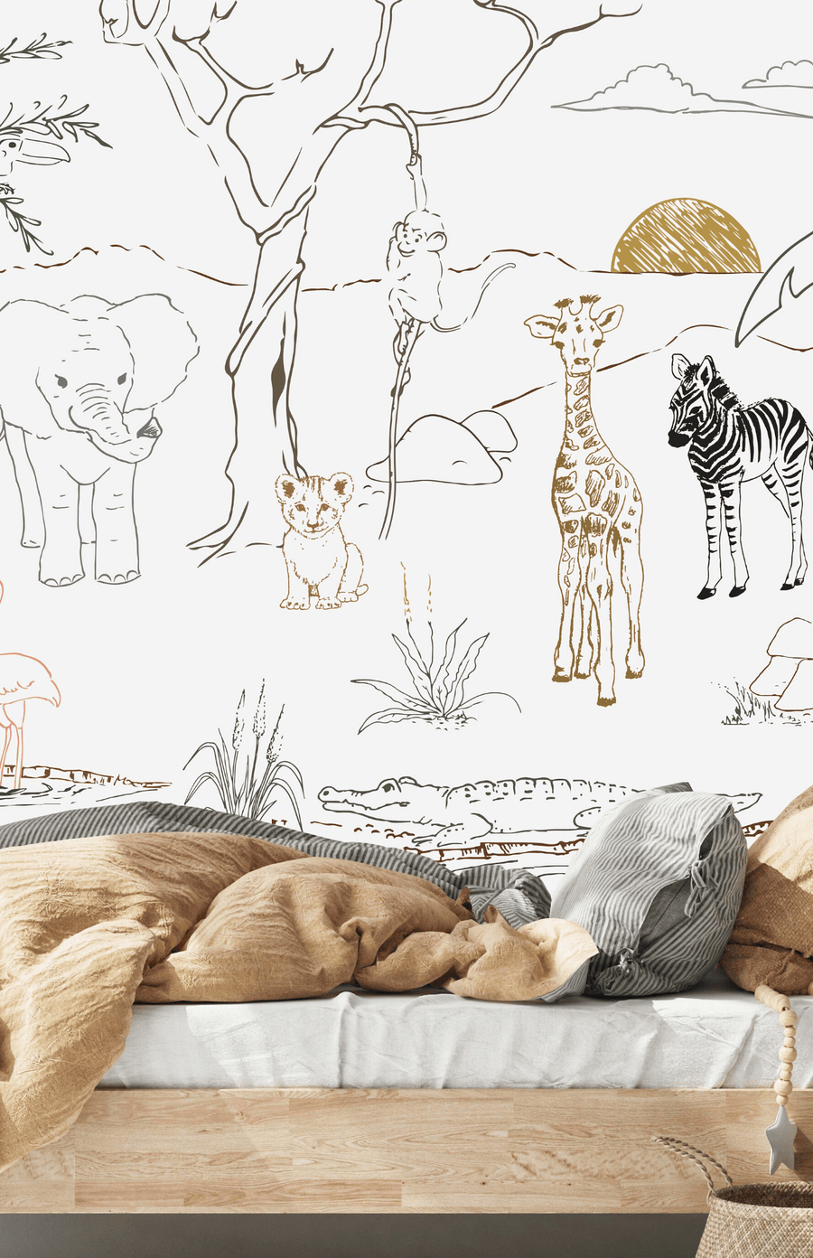 Munks + Me Baby Safari Animal Wallpaper