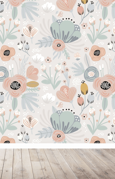 Munks + Me Betsy Floral Garden Wallpaper