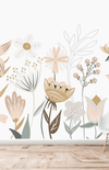 Munks + Me Millie Floral Garden Wallpaper Mural