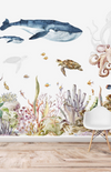 Munks + Me Under The Sea Watercolour Wallpaper Mural