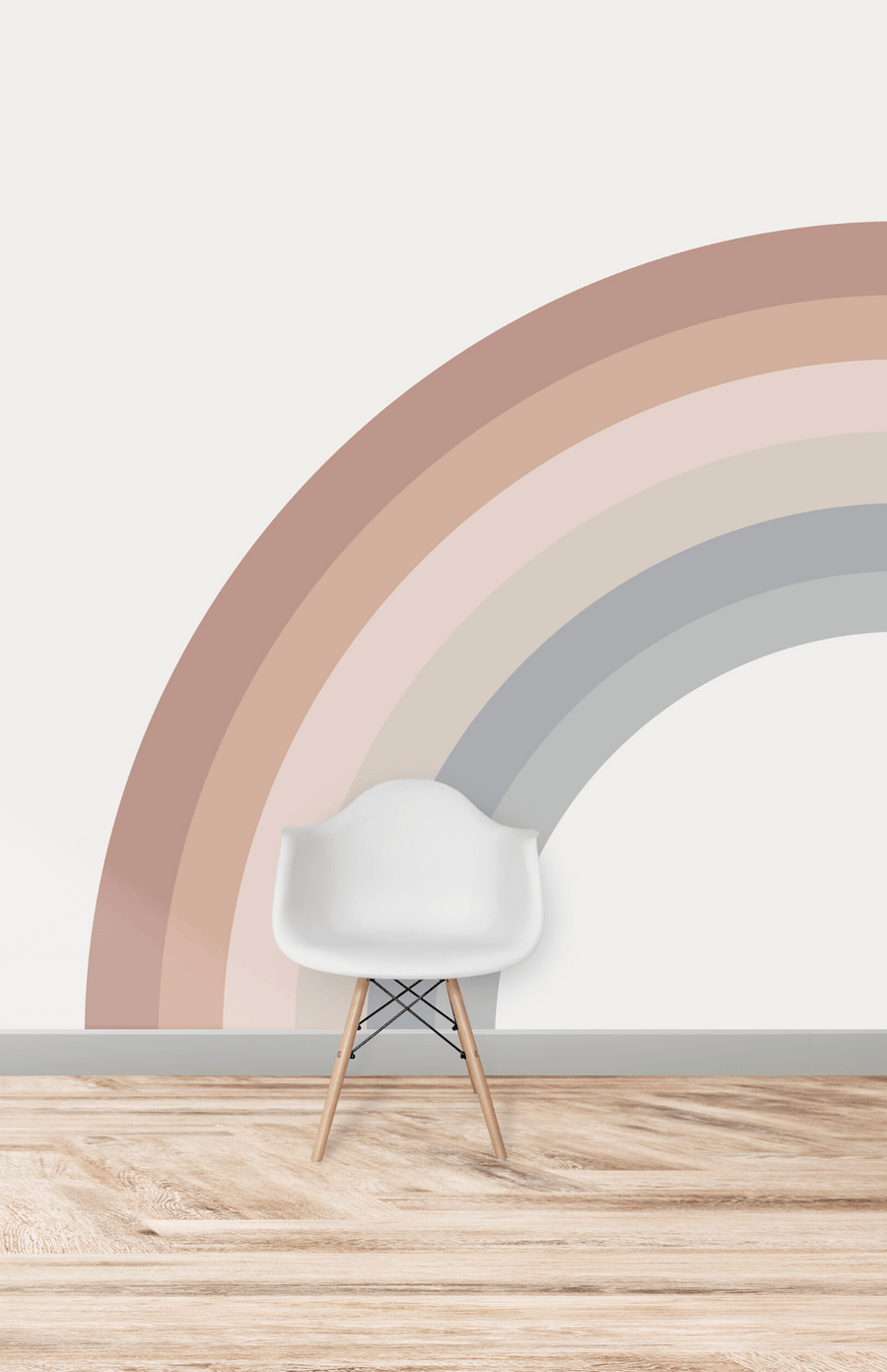Munks + Me Corner Rainbow Wallpaper