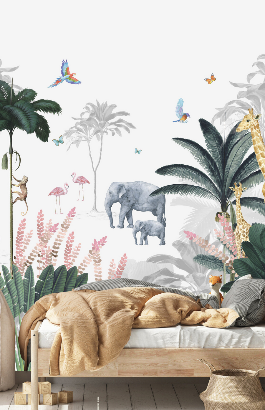 Munks + Me Leopard & Friends Jungle Wallpaper