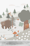 Munks + Me Woodland Wallpaper