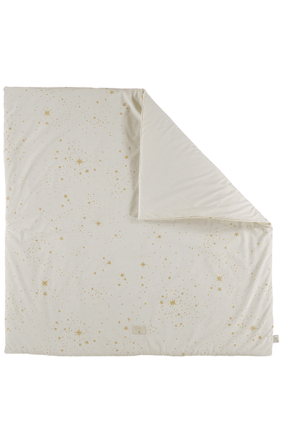 Nobodinoz Colorado Square Playmat - Gold Stella/Natural
