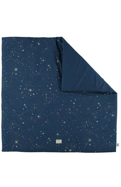 Nobodinoz Colorado Square Playmat - Gold Stella/Night Blue