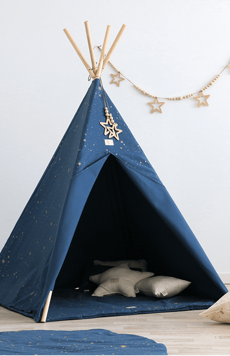 Nobodinoz Phoenix Teepee - Gold Stella/Night Blue