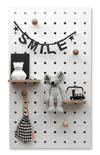 Pegboard with Shelves and Pegs - White