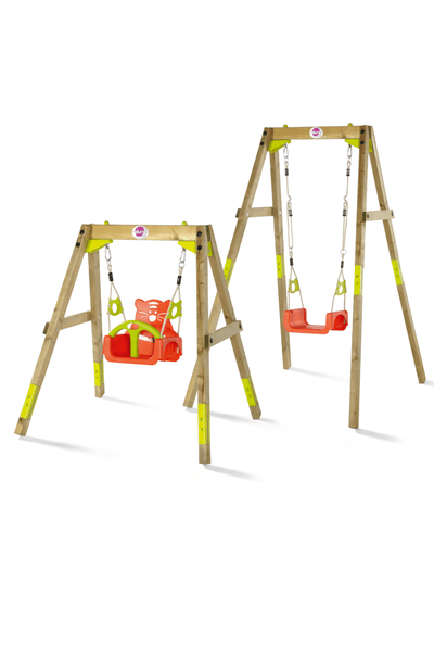 Plum®  3-in-1 Wooden Growing Swing Set