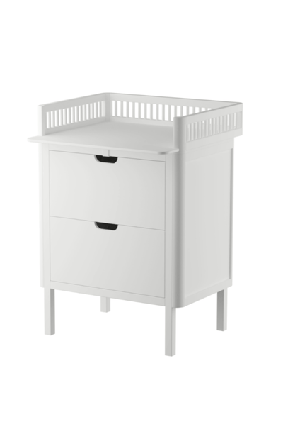 Sebra Changing Table With Soft-Lock Drawers- White
