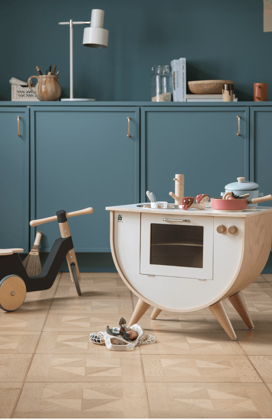 Sebra Play Kitchen - White/Wood