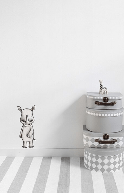 Stickstay Nea The Rhino Wall Stickers