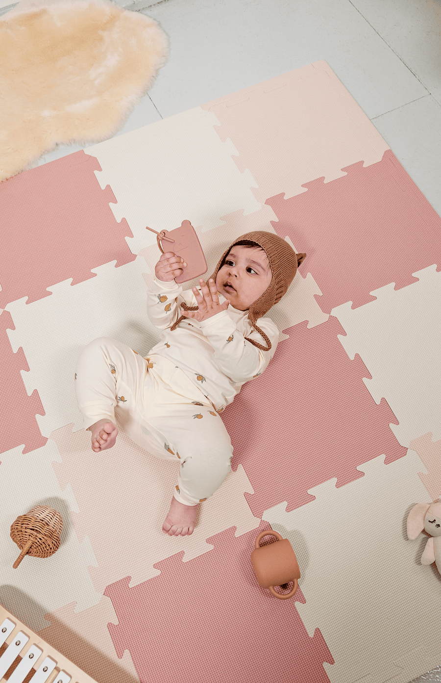 The Modern Nursery Puzzle Playmat - Sandy Blush