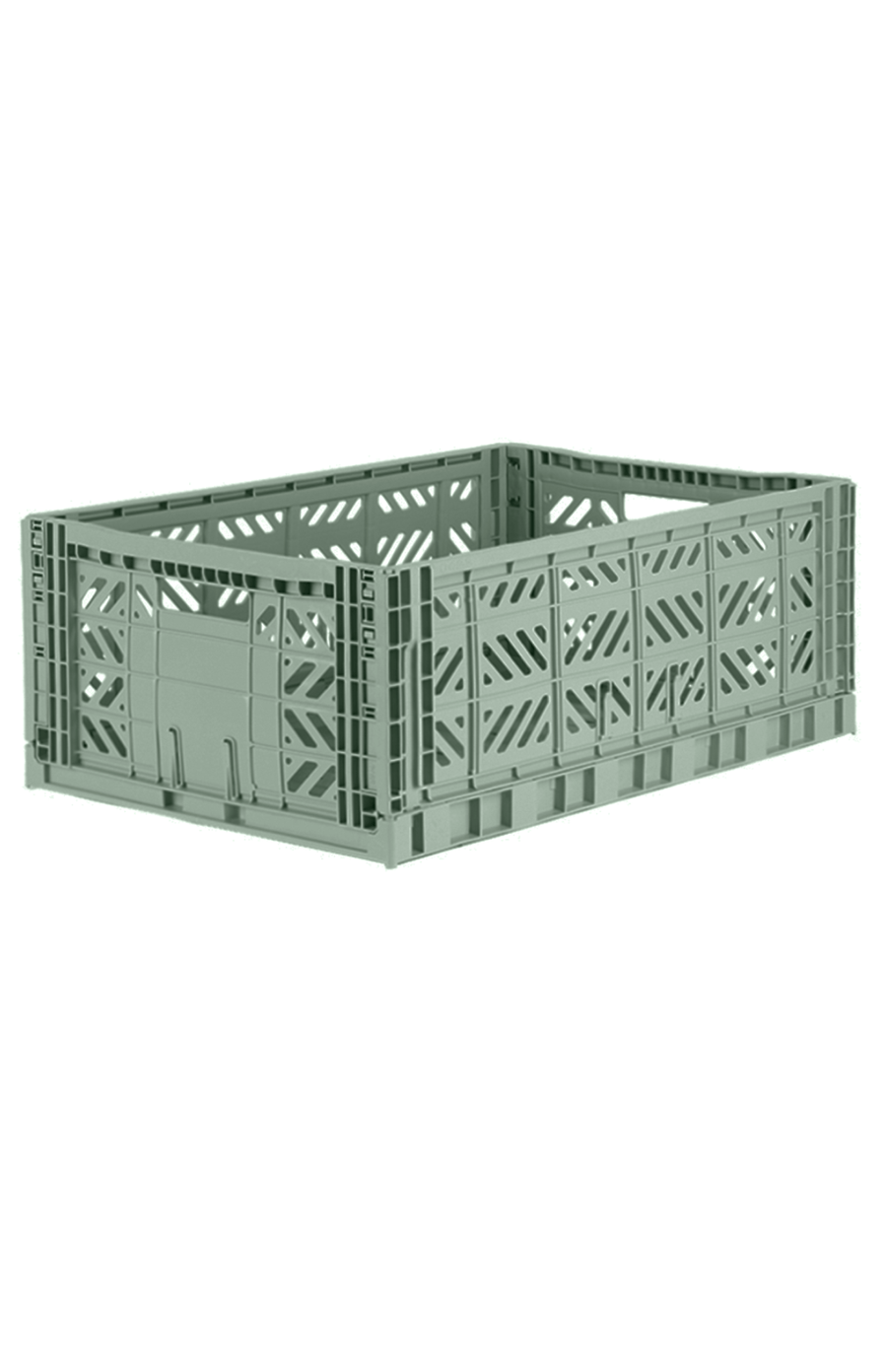 AyKasa Maxi Folding Crate - Almond Green
