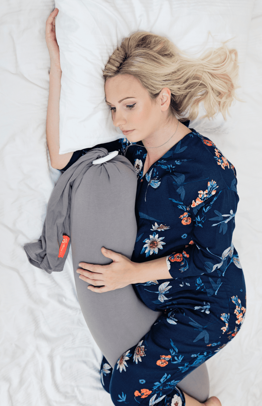 bbhugme Pregnancy Pillow - Grey/Plum