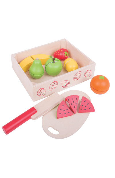 BigJigs Wooden Play Food - Cutting Fruit Set