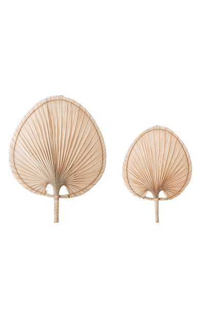 Bloomingville Wall Decor Set of 2 - Palm Leaf