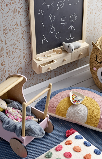 Bloomingville Wooden Chalkboard with Drawers